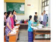 တက္ကသိုလ်ဝင်တန်းစာမေးပွဲအဖြေလွှာများစစ်ဆေးခြင်းနှင့် အောင်စာရင်းများပြုစုခြင်း